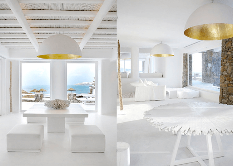 Living Room Interior Design Of Cavo Tagoo Hotel