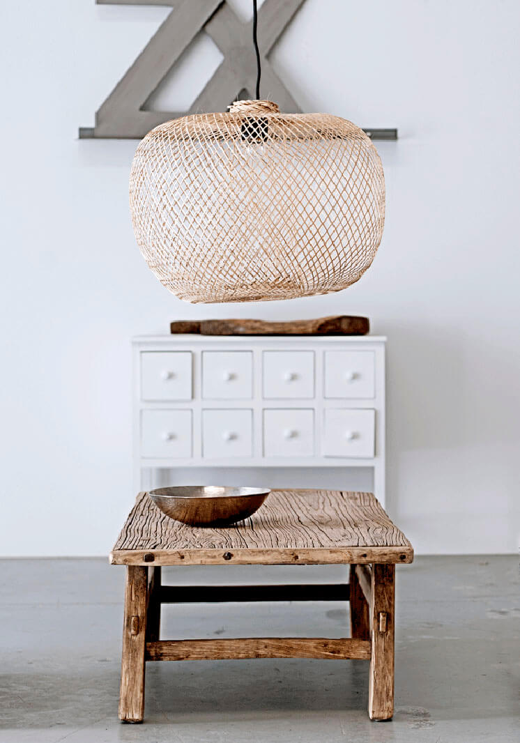 Bodie and Fou | Bamboo Pendant Wooden Stool | Est Magazine