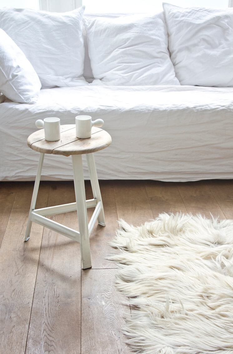 Bodie and Fou | Wooden White Stool | Est Magazine