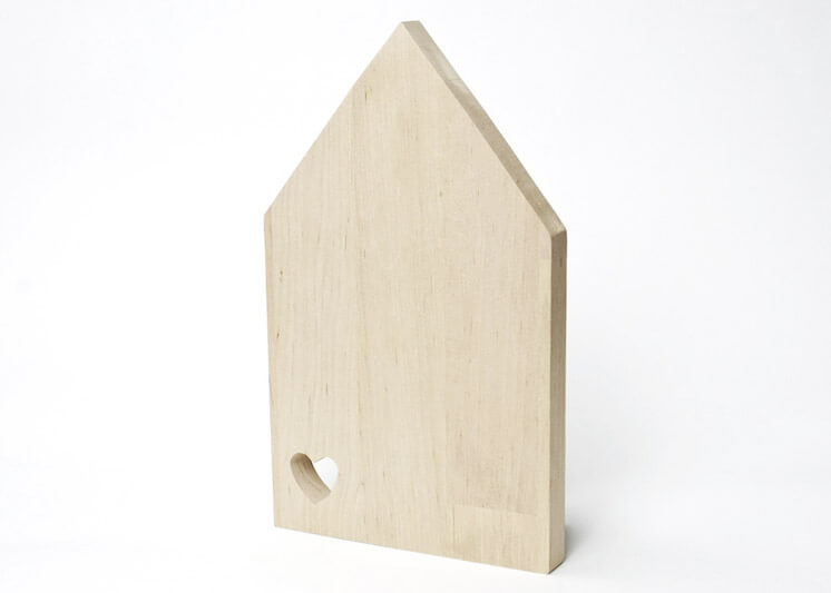 Design Fürs Heim | Brotbrett I Love My Home Birch Cutting Board | Est Magazine