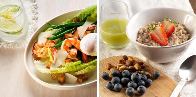 Eat Fit Food Quinola Porridge Cesar Salad Est Magazine