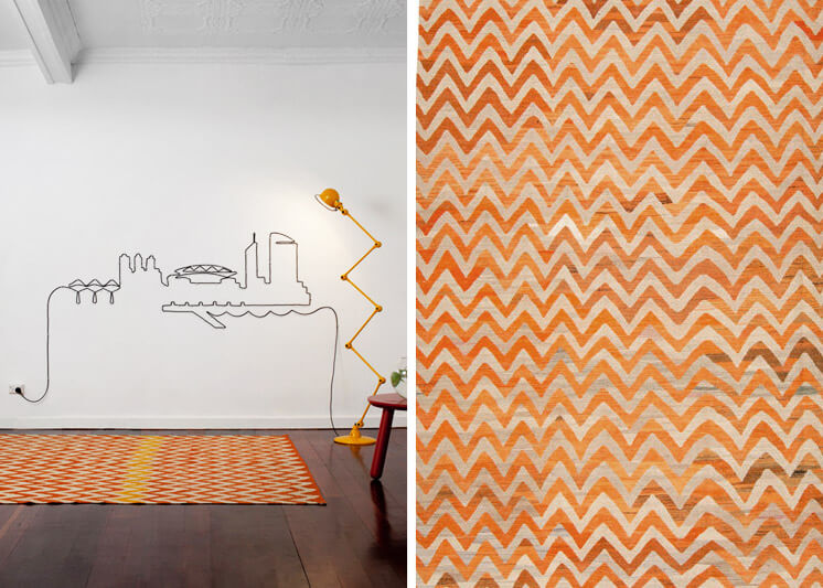 Est Magazine | Loom Rugs | Old Yarn Kilim Orange