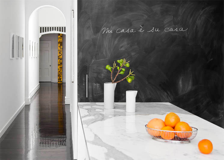 Chalkboard black green and orange | PHOTO Georgie Skinner | Est Magazine f