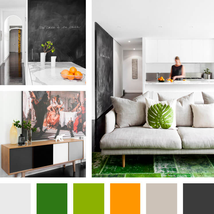Chalkboard black green and orange | PHOTO Georgie Skinner | Est Magazine
