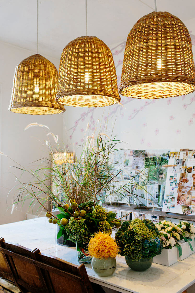 Fleur McHarg Floristry and Event Styling Pendant Lamps Est Magazine