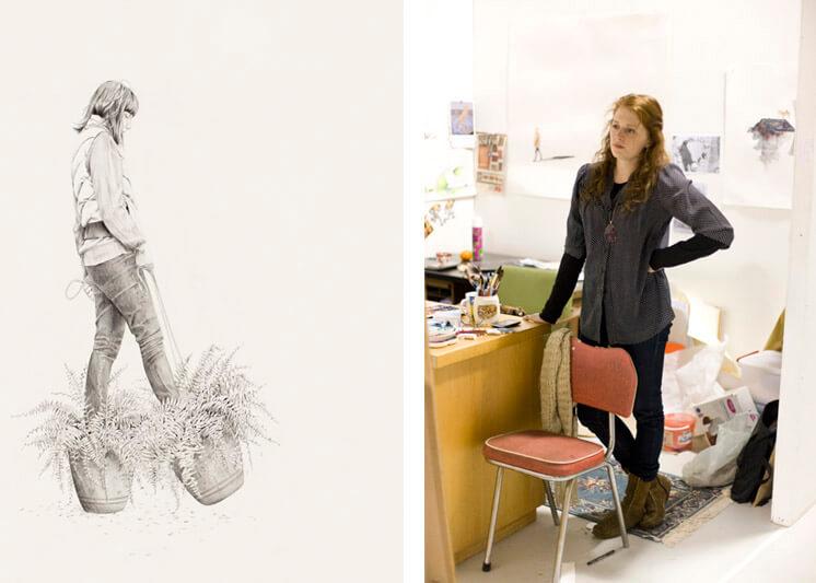 Carmel Seymour in studio2 | Helen Gory Gallery | Est Magazine copy