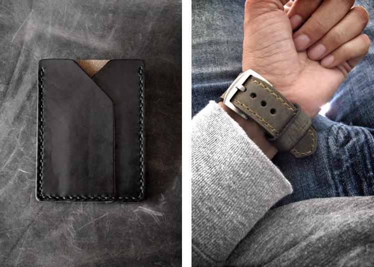 Bas and Lokes | Rex leather slim wallet | Est Magazine
