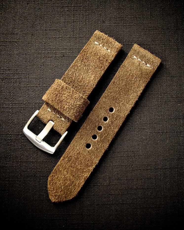 Bas and Lokes | Xavier tan suede watch strap | Est Magazine