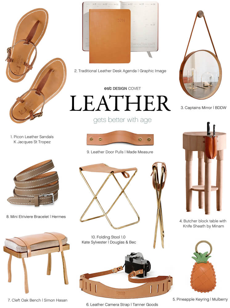 Design Covet | Leather | gets better with age | Est Magazine