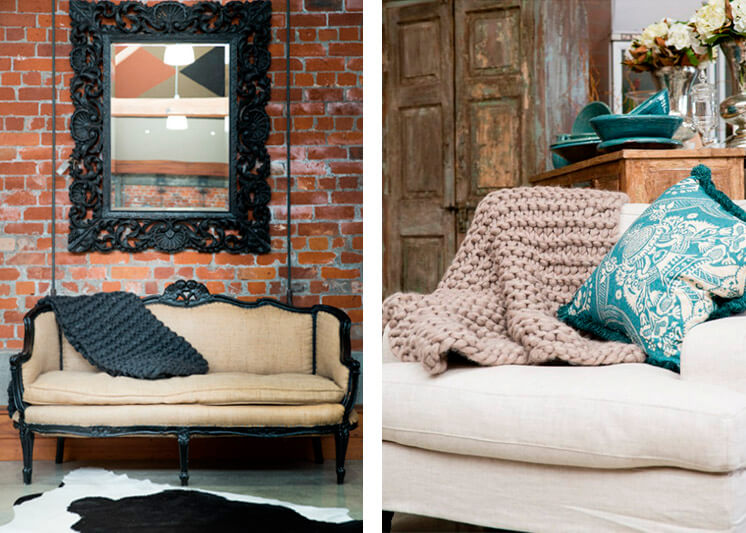 Milo and Mitzy | Charcoal chunky knit blankets | Est Magazine
