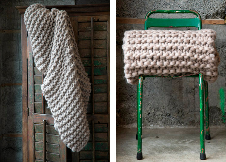 Milo and Mitzy Chunky knit blankets Est Magazine