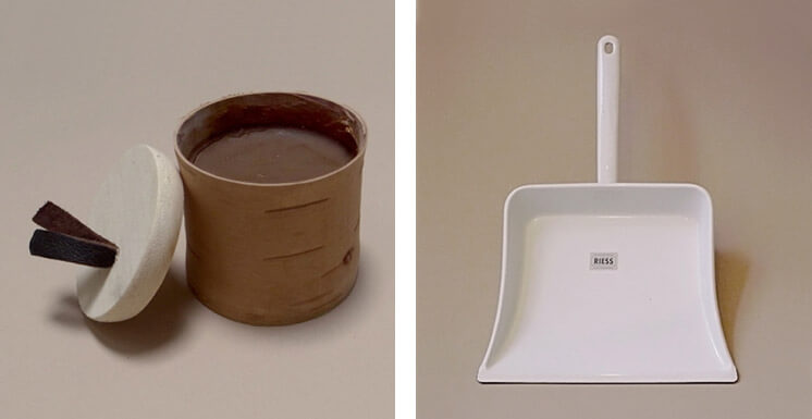 Objects of Use Spruce Resin Ointment and Dustpan Est Magazine