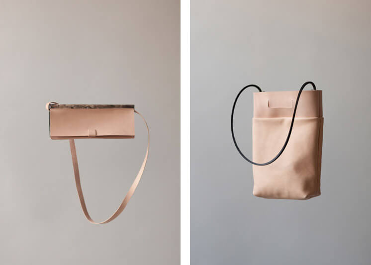 Chiyome | Marble Clutch & Nude Easy Tote | Est Magazine