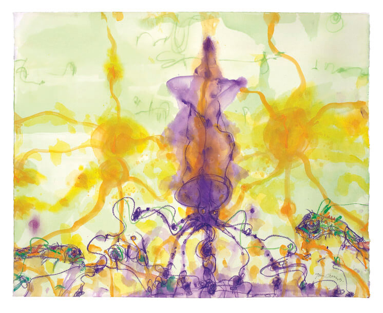 John Olsen | Squid in it's own ink | Est Magazine