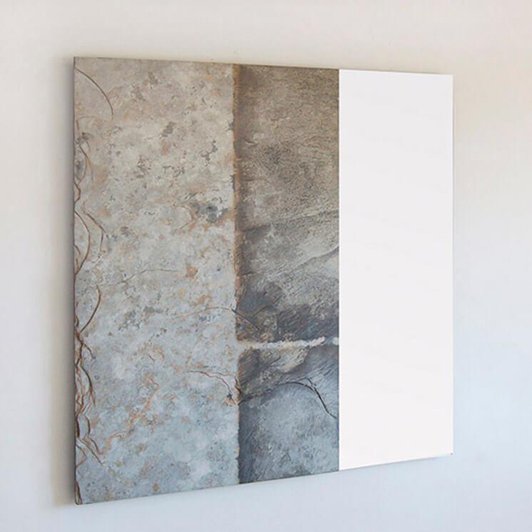 Offset Square Slate Mirror   © Pacha Design   Est Magazine