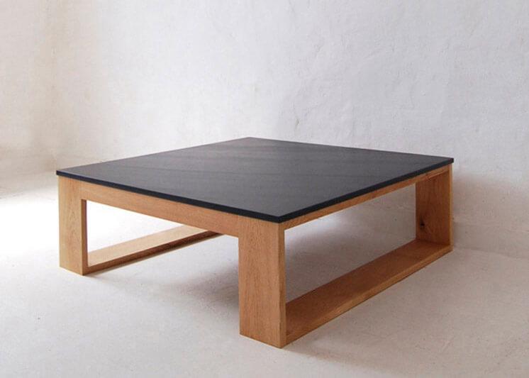 Square Slate Coffee Table |  © Pacha Design | Est Magazine copy