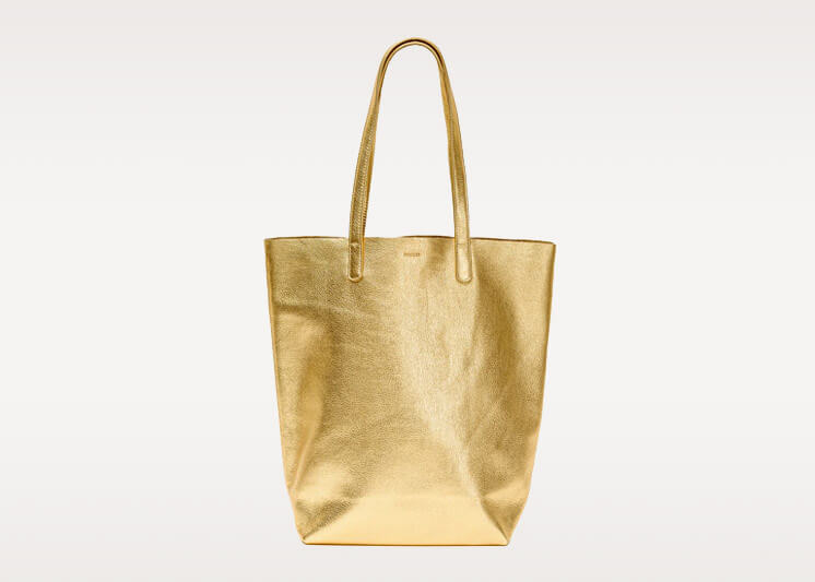Vincent 2 Baggu Gold Tote Bag | Est Magazine
