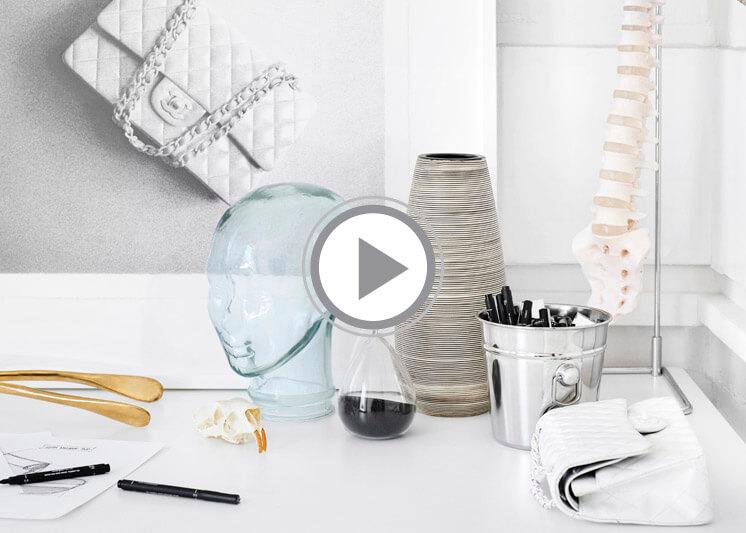 Atelier Cj Hendry My Timeless Classic film Chanel Handbag painted white Est Magazine