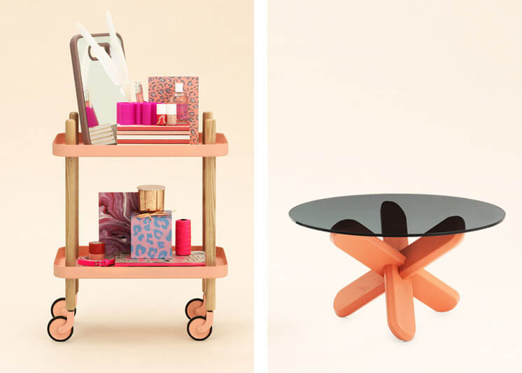 Block Table Ding Table Coral Trend Normann Copenhagen