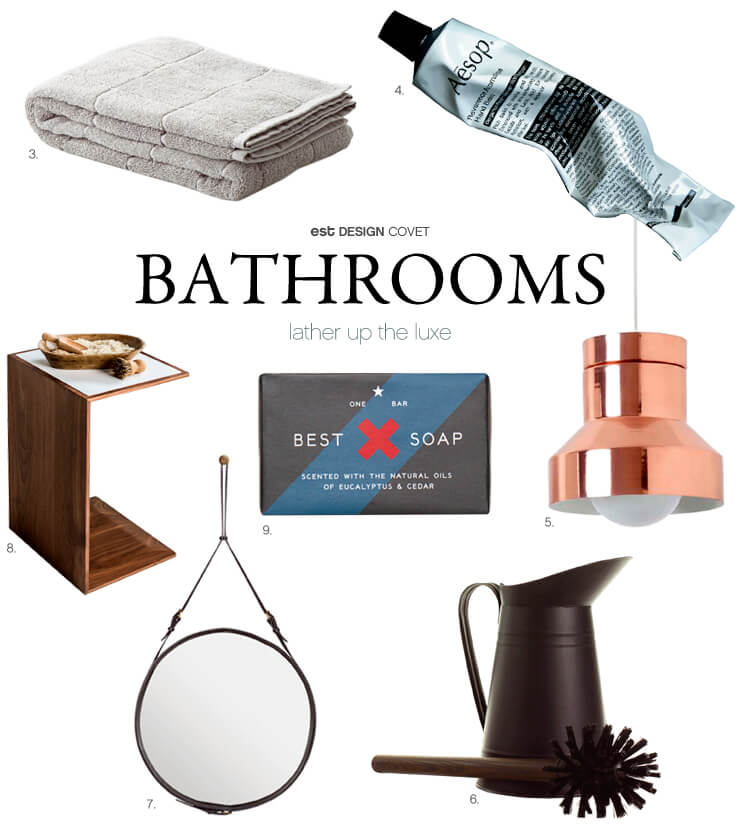 Bathrooms | Lather up the luxe | Est Magazine