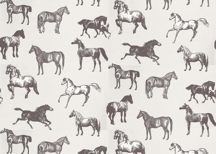 Wallpaper Collette Nora by Sandberg Equestrian Horse Design Est Magazine