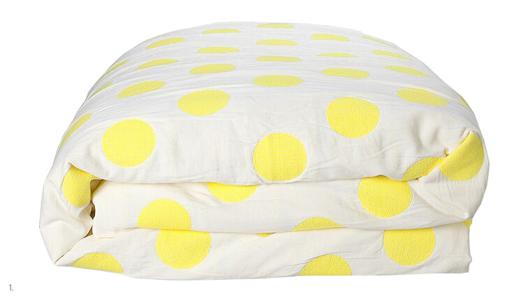Littlest | Calni Yellow Polkadot Quilt Cover | Country Road | Est Magazine