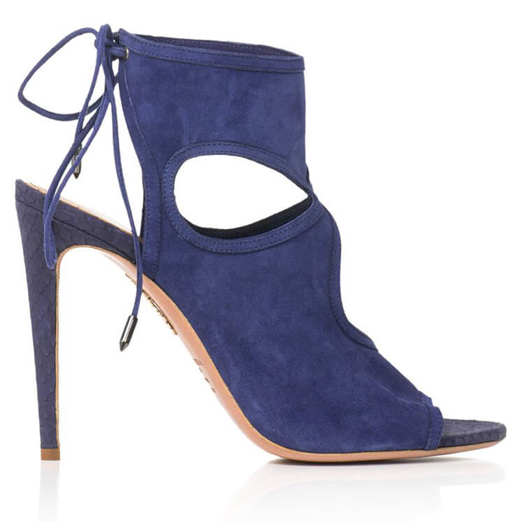 Aquazzura Sexy Thing Suede Sandals Est Magazine