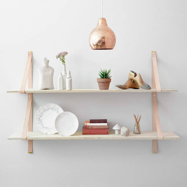 Assemblages Leather Shelves by Lightly Est Magazine