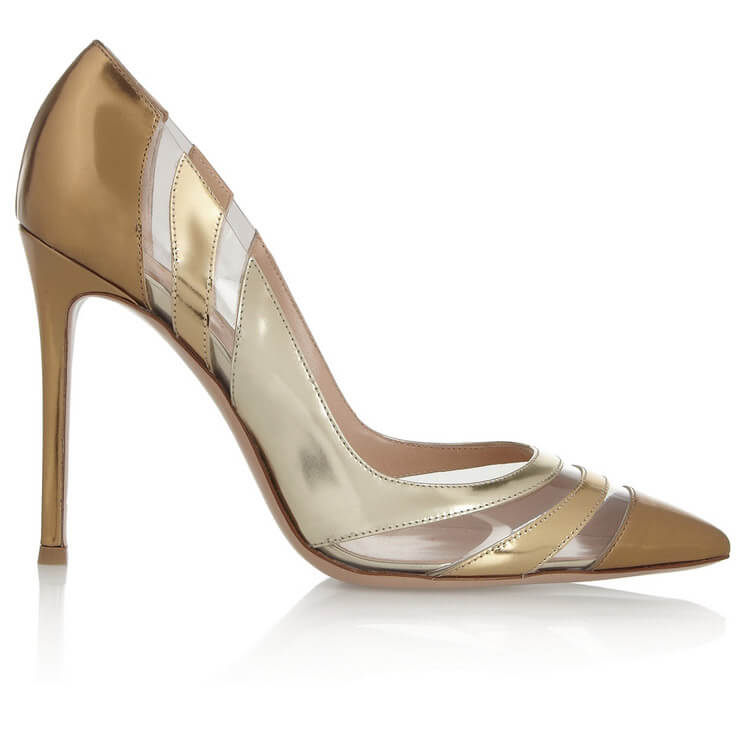 Giantivo Rossi Perspex paneled metallic patent leather pumps Est Magazine