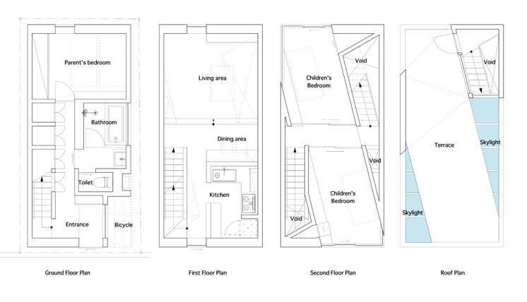 House in Tamatsu Kenji Architectural Studio | © Yohei Sasakura13 | Est Magazine