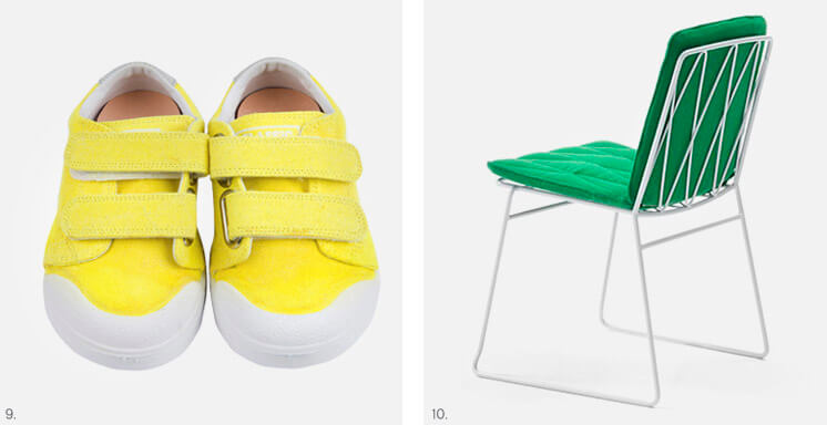 Littlest | Neon Yellow Velcro Sneaker | Jardan Seb Chair