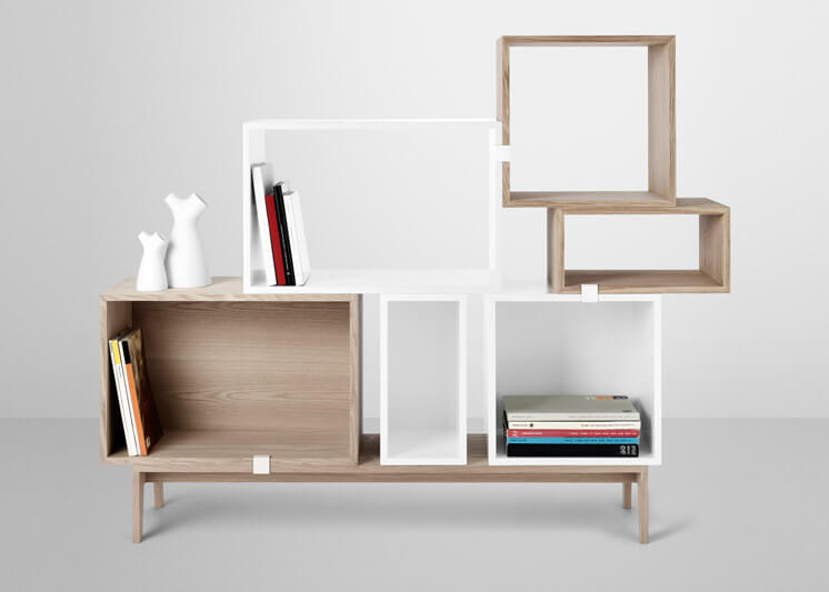 Muuto Stacked Shelving System designed by Julien De Smedt Est Magazine