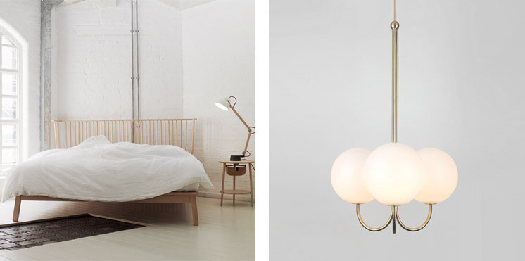 The Future Perfect | Companions Bed by StudioIlse & Angle Pendant Collection by Michael Anastassiades| Est Magazine