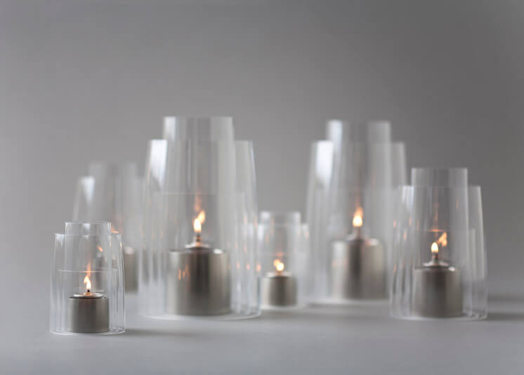 Collaboration - Deborah Ehrlich - Hurricane Lanterns (Satin NIckel)