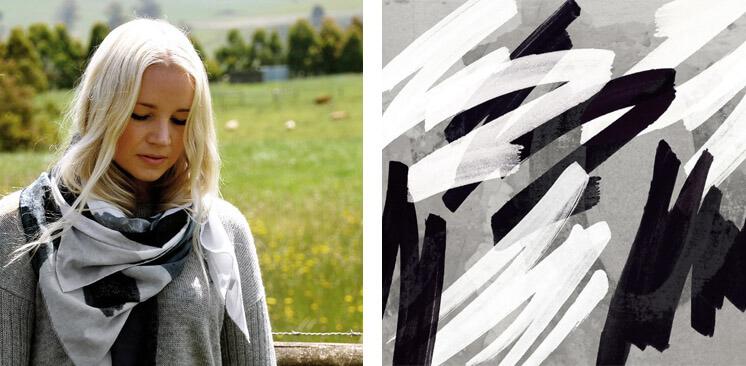 Grafitti Silk Cotton Scarf | Pippa Oostergetel | Squeak | Est Magazine