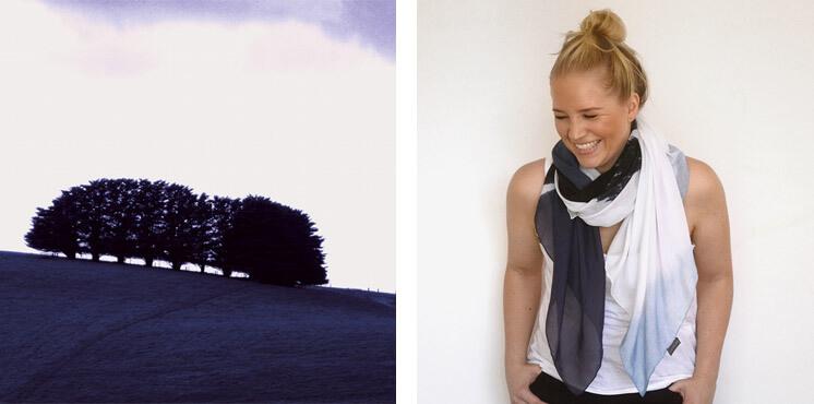 Indigo Silk Cotton Scarf White Indigo Blue | Pippa Oostergetel | Squeak | Est Magazine