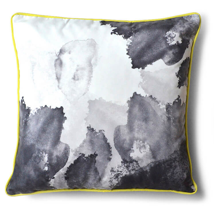 Ink Cushion Yeow Black | Pippa Oostergetel | Squeak | Est Magazine
