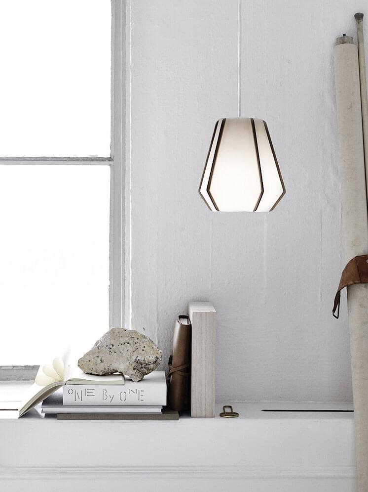 Lullaby Pendant Lamp in Stone Paper | Monica Forster | Est Magazine