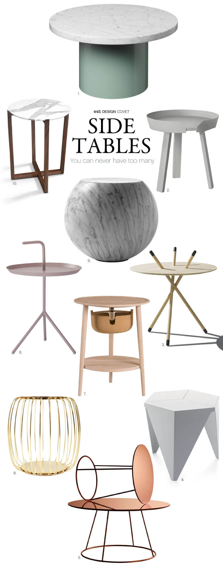 Side Tables | You can never have too many | Design Covet | Est Magazine