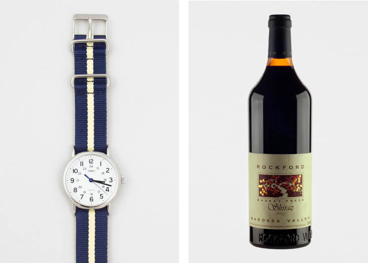Weekender Slip Thru | Timex Watch | Rockford Wines Barossa Valley | Shiraz 2009 | Est Magazine