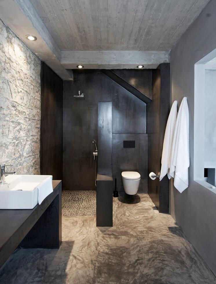 Bathroom Villa Kalos Ithica Greece | © Robbert Koene | Est Magazine