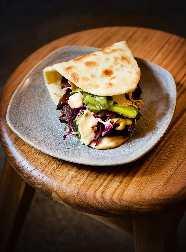 "Chilli Fried Egg & Bacon on Brioche Bun AKA ""The Merchant"" | The Three Williams Redfern | Est Magazine"