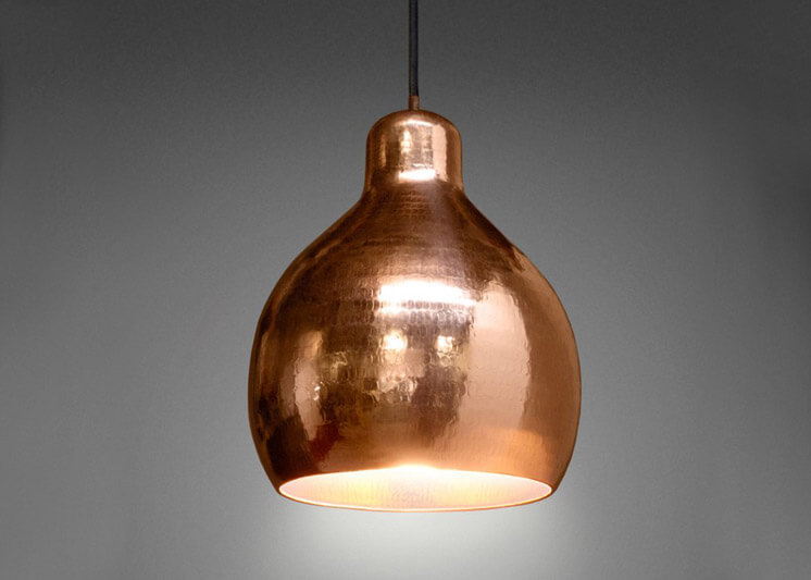 Godfrey Copper Pendant Light | Cindy-Lee Davies | Lightly | Est Magazine