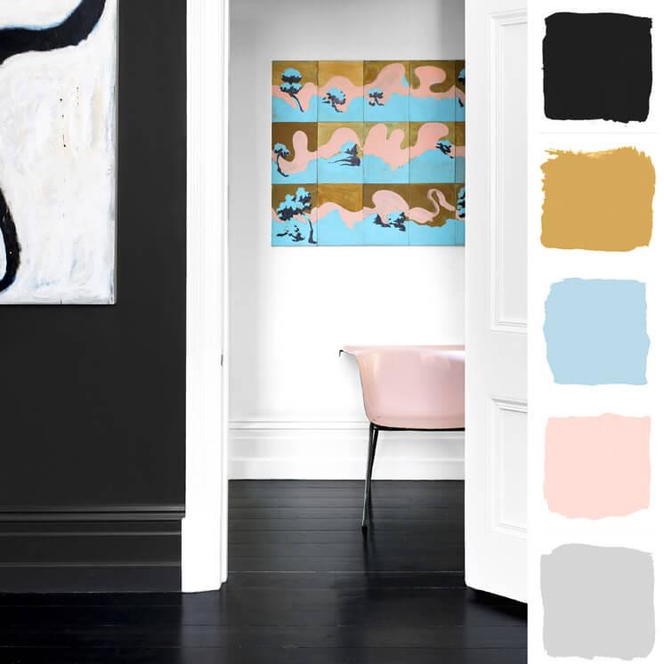 Hallway | Colour Chronicles Jane and Simon Hayman | Bauwerk Colour | © Brooke Holm | Est Magazine