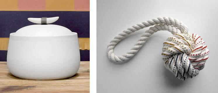 Horn Handle Jar Hand Painted Knot Nina Freudenberger Haus Interior Est Magazine