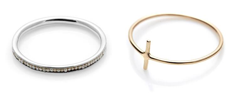 Petite Pearl Ring Line Ring Sarah Sebastian Est Magazine