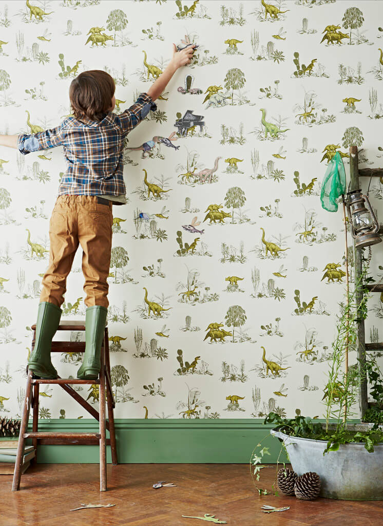 Yellow Green Ladder Magnetic Dino Wallpaper Sian Zeng | © Jon Day | Est Magazine