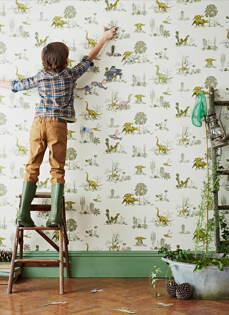 Yellow Green Ladder Magnetic Dino Wallpaper Sian Zeng | © Jon Day | Est Magazine