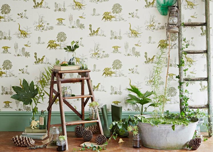 Yellow Green Magnetic Dino Wallpaper Sian Zeng   © Jon Day   Est Magazine