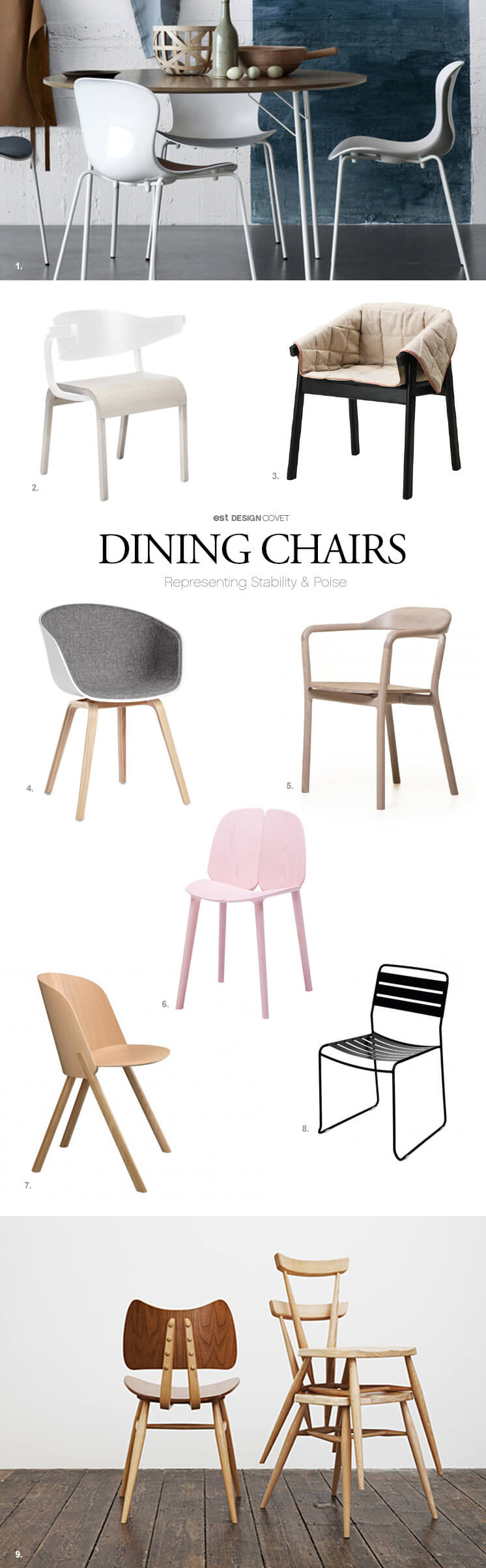 Est Magazine Sophie France dining chairs FIN